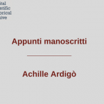 Appunti-manoscritti