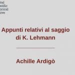 Appunti-saggio-Lehmann