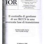 IOR n. 1 – elaborato finale_ Progetto per il controllo di gestione di un IRCCS_ parte 1