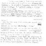 appunti manoscritti utilizzati per scrivere una pubblicazione