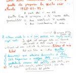 scheda manoscritta utilizzata in piu date