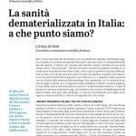 La sanità dematerializzata in Italia a che punto siamo