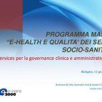 """Masi_Programma master """"e-health e qualita' dei servizi socio-sanitari"""