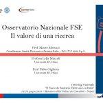 Osservatorio Nazionale FSE. Il valore di una ricerca